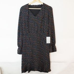 19 Cooper NWT Dress Long Sleeve Size Large Stars